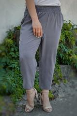 Міранда. Укорочені літні брюки плюс сайз. Чорний лапка.