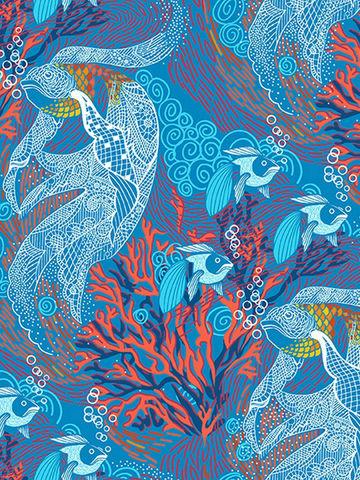 Простынь на резинке  -Золотая рыбка- натяжная 160х200х26 см 2-спальная