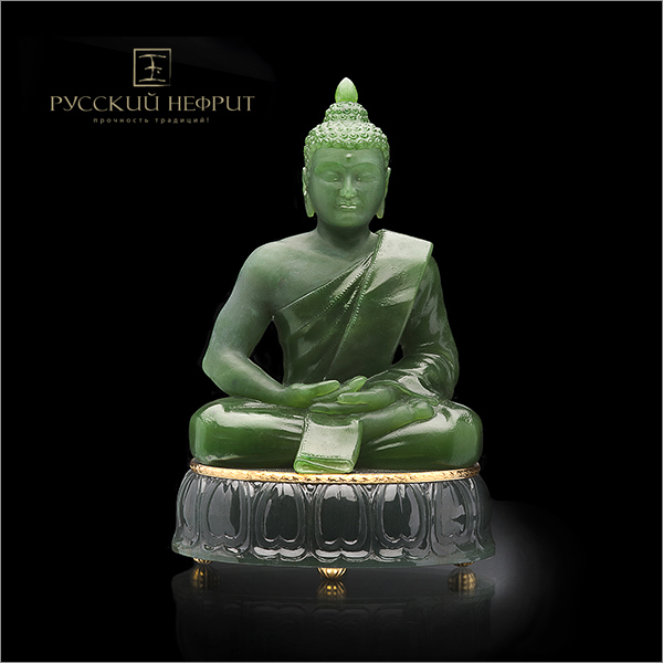 Резьба, статуэтки Будда. Зелёный нефрит. budda.jpg