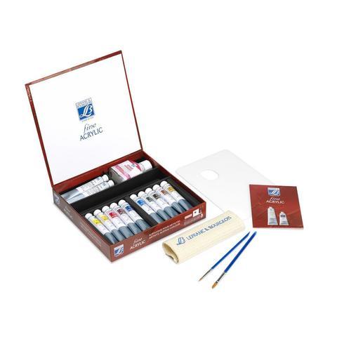 Набор акриловых красок  Lefranc&Bourgeois FINE Artist, 10 цветов по 20 мл