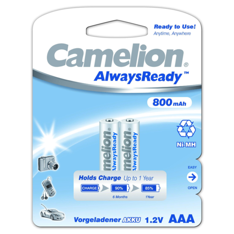 Аккумуляторы Camelion R 03/2bl 800mAh Ni-MH (Always Ready)