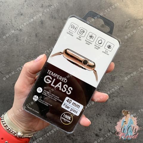 Стекло защитное 3D Full Fiber Apple watch 40mm /black/