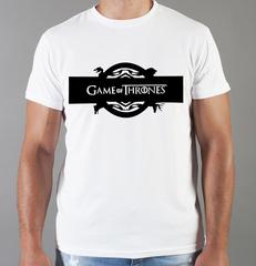 Футболка с принтом Игра престолов (Game of Thrones) белая 0017