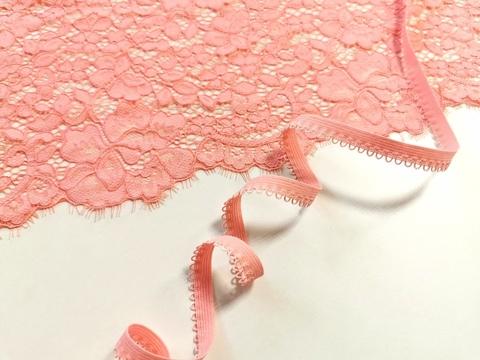 (2)_Ажурная резинка, 10 мм, флорида (розово-коралловый), (Арт: К-262/10-1045), м