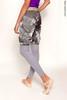Удлинённые шорты-сауна, испачканные принтом | слякоть