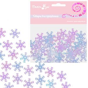 Конфетти перламутровое Снежинки 14гр