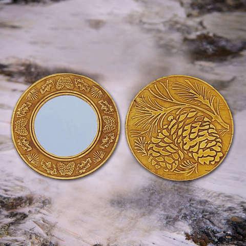 Зеркало две кедровые шишки