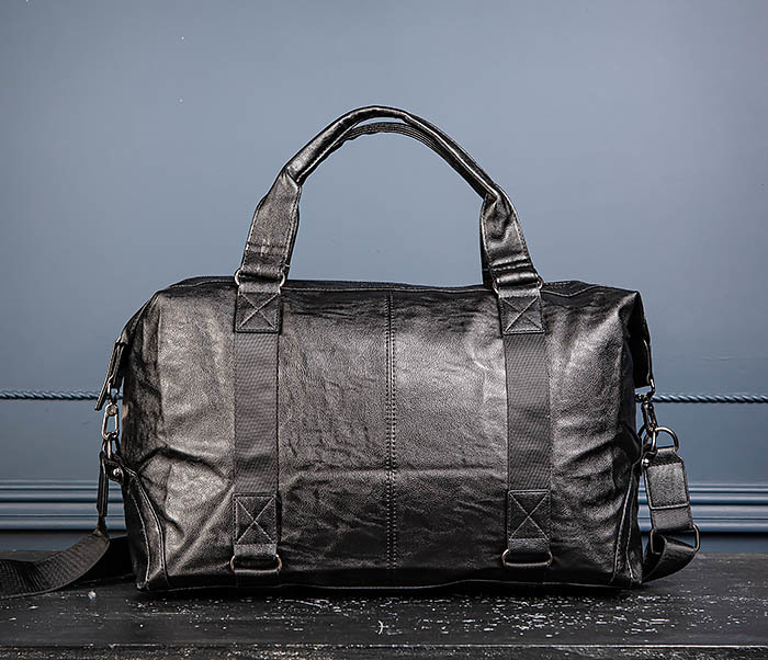 BAG546 Кожаная мужская сумка для поездок фото 06