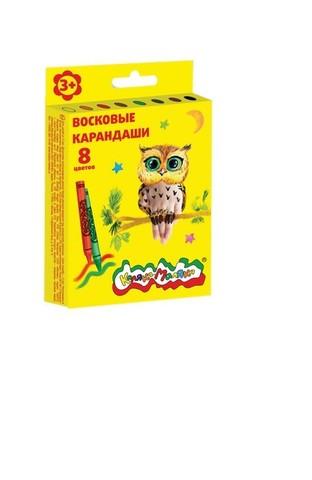 Восковые карандаши Каляка-Маляка 8 цветов круглые/КВКМ08