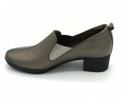 Бронзовые туфли на устойчивом каблуке