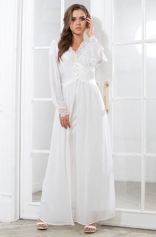 Длинный пеньюар  MIA-MIA Lady in white Леди в Белом 17259
