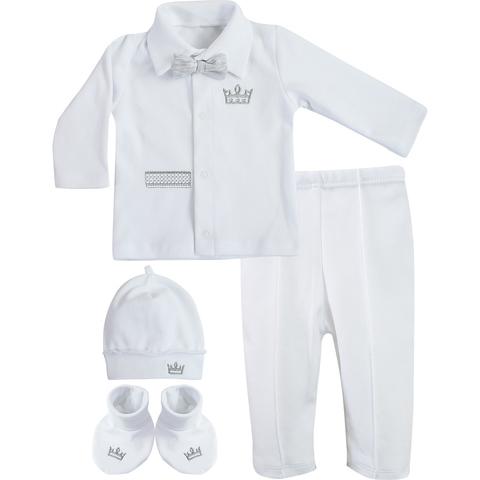 Комплект нарядный для мальчика Корона белый