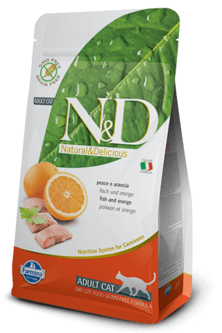 купить Farmina N&D Prime Fish & Orange Adult сухой беззерновой корм для взрослых кошек