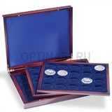 Презентационный кейс VOLTERRA TRIO de Luxe, 3 деревянных лотка по 20 круглых ячейки D 47 mm (3 р. серебро),