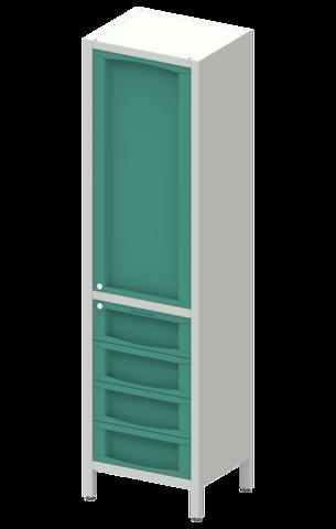 Шкаф лабораторный  ШКа-1  АйЛаб Organizer (вариант 9) - фото