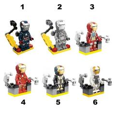 Minifigures Iron Man Blocks Building