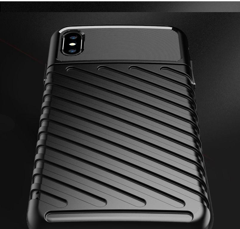 Чехол iPhone X (XS) цвет Black (черный), серия Onyx, Caseport