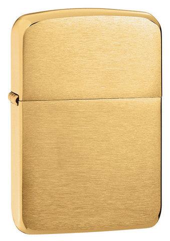 Зажигалка Zippo Replica, с покрытием Brushed Brass, латунь/сталь, золотистая, матовая, 36x12x5123