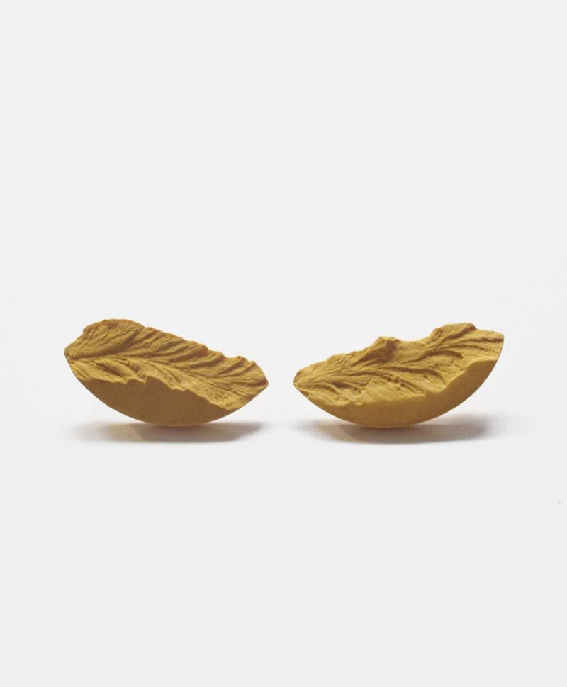 серьги-curve-medium-mustard