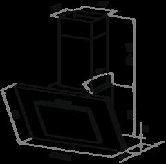 Вытяжка Maunfeld Tower C 60 белый - схема