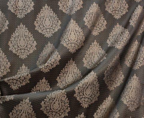 Портьерная ткань жаккард Франческа коричневый