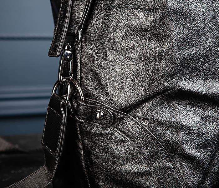 BAG546 Кожаная мужская сумка для поездок фото 07