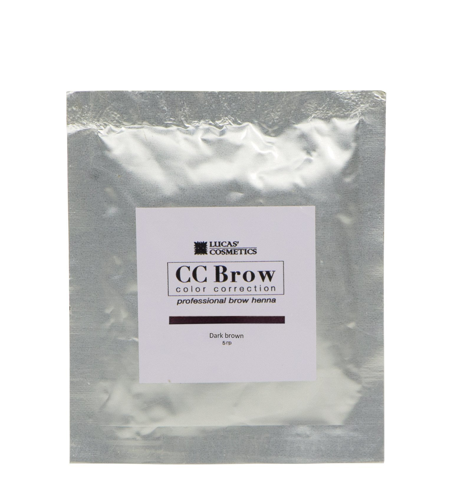 Хна для бровей CC Brow 5гр в саше Dark Brown Темно-коричневый