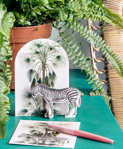 Открытка Pop out cards Zebra