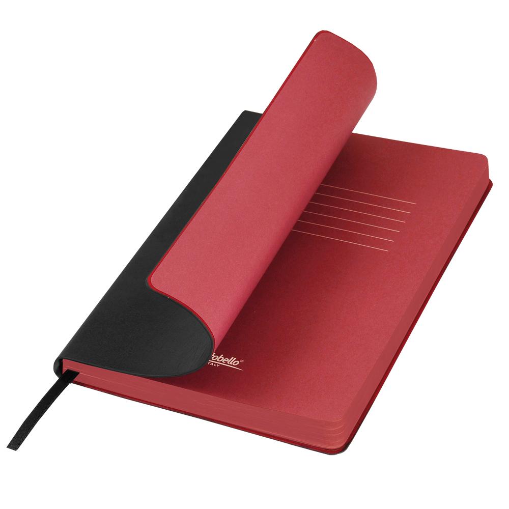 Ежедневник Portobello Trend, River side, недатированный, черный/красный