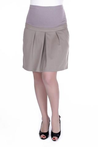 Юбка для беременных 06708 коричневый