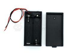 Отсек для батареек 2хАА с крышкой без штекера