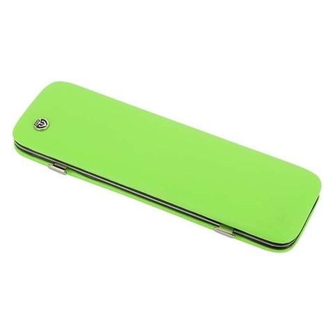 Маникюрный набор GD, 6 предметов, цвет зеленый, кожаный футляр