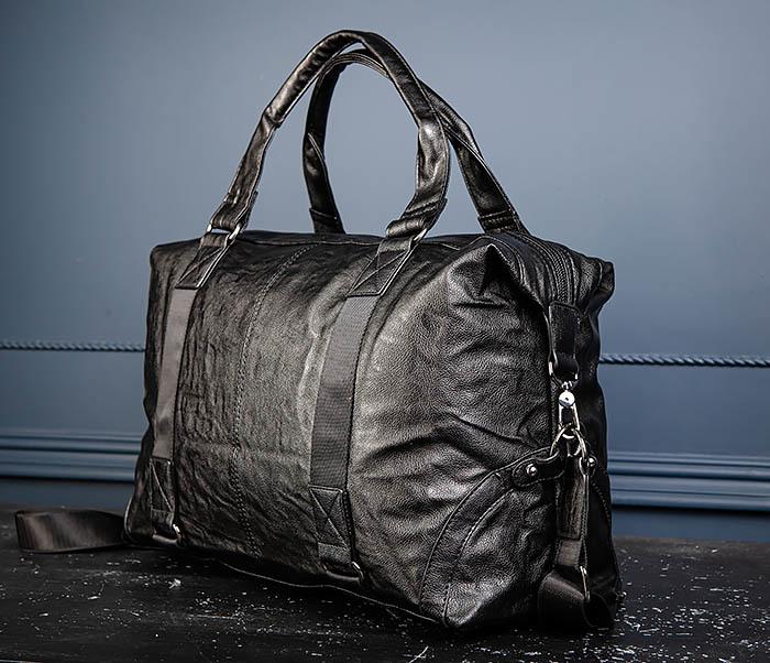 BAG546 Кожаная мужская сумка для поездок фото 08