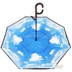 Зонт наоборот небо с облаками полуавтомат (откр)