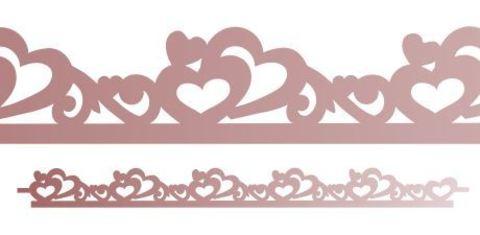 Трафарет для шоколада №1113 - Сердца