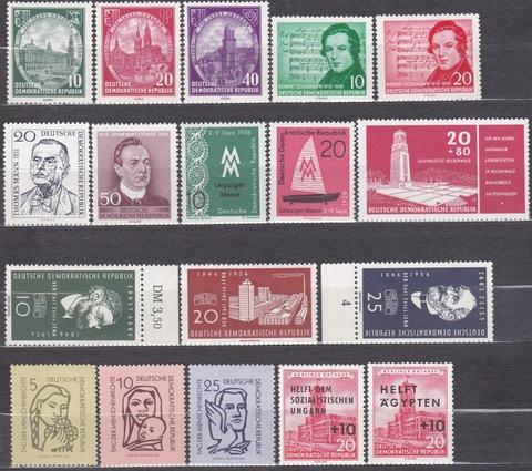 лот марок 1956 все **MNH