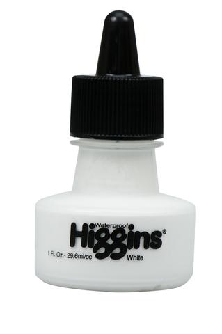 Пигментные чернила HIGGINS WHITE Pigment-Based 1 OZ, 29,6 мл