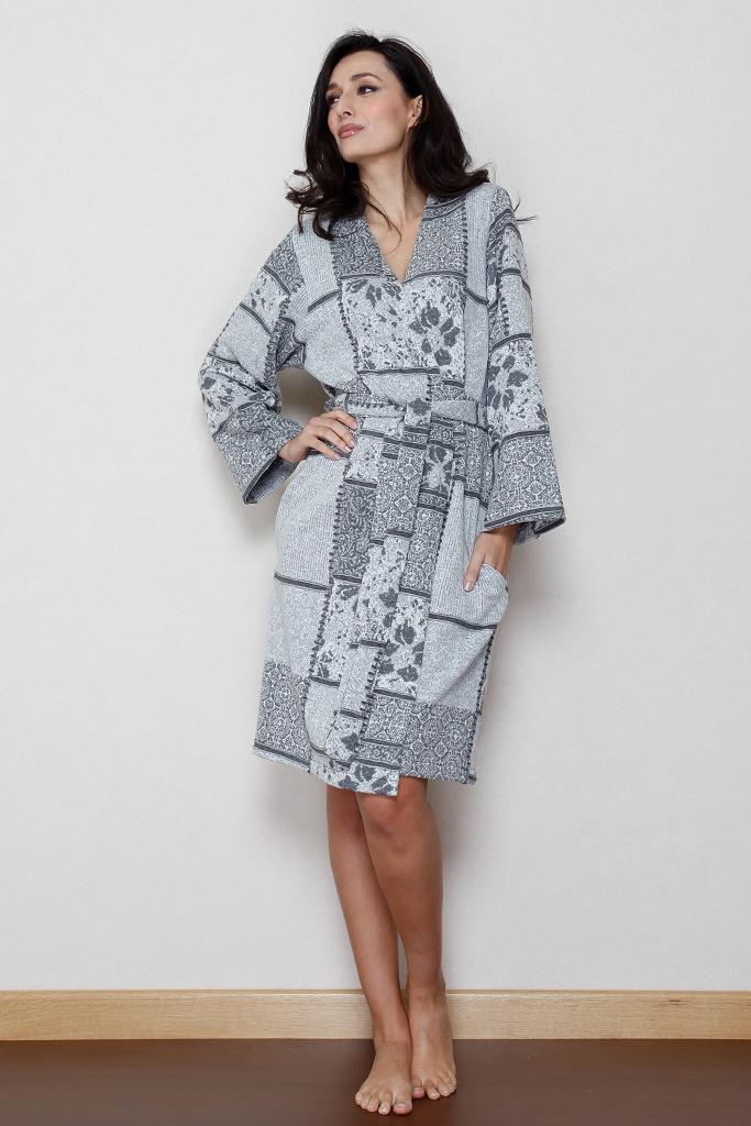 Мягкий халат с рисунком B&B
