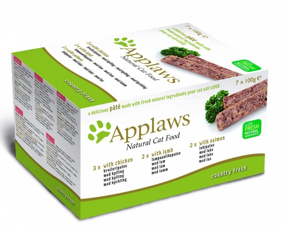 купить  Applaws Cat Pate MP Chicken, Lamb & Salmon набор паучей для кошек