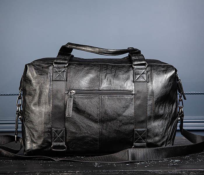 BAG546 Кожаная мужская сумка для поездок фото 09