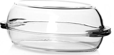 Кастрюля овальная с крышкой 2 литра Borcam 59022 жаропрочная стеклянная форма для запекания 35х19х7 см коробка