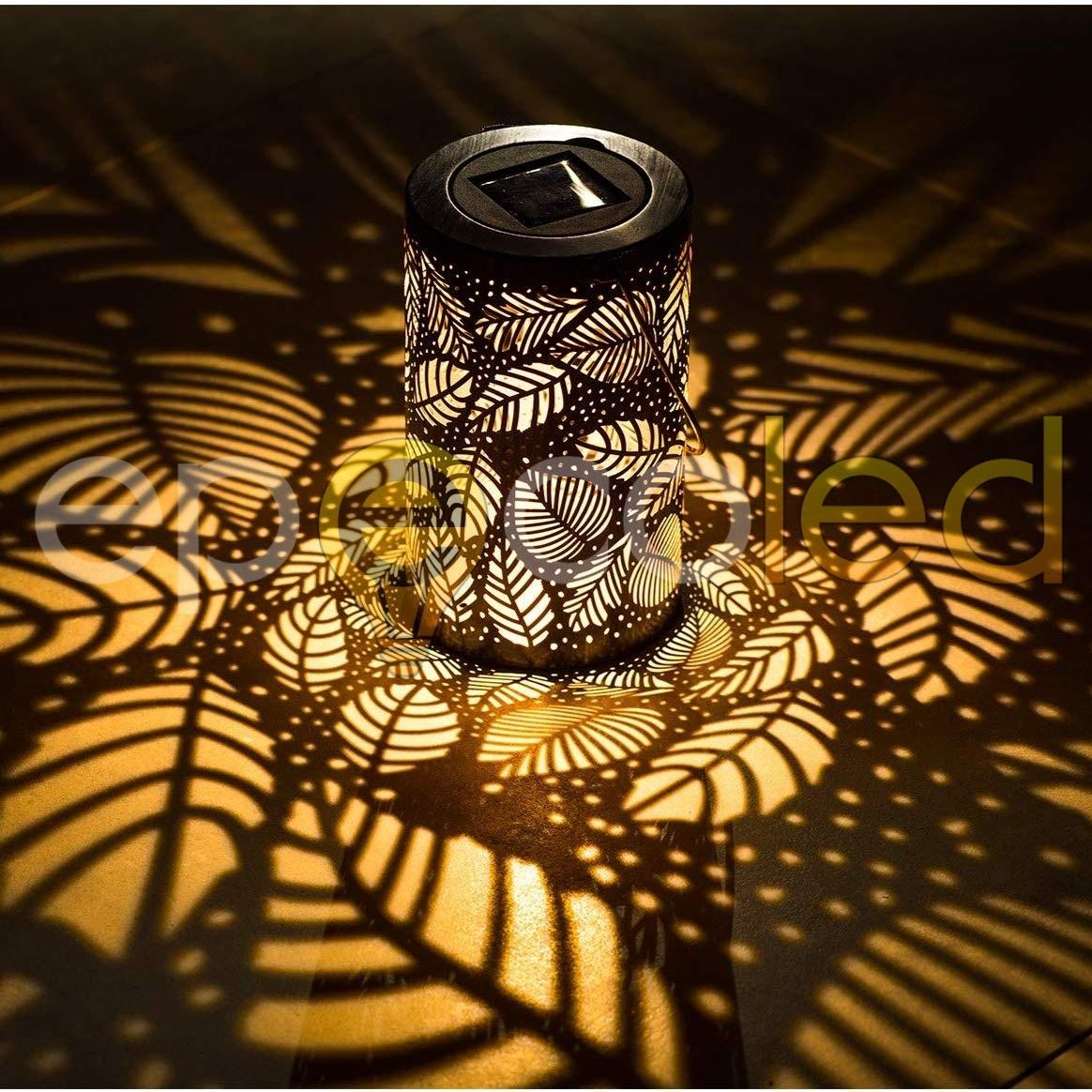 Светильник EPECOLED Листья (на солнечной батарее, бронзовый)
