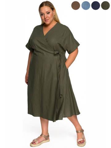 Платье изо льна с запАхом