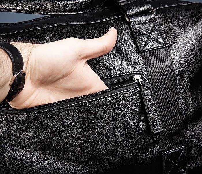 BAG546 Кожаная мужская сумка для поездок фото 10