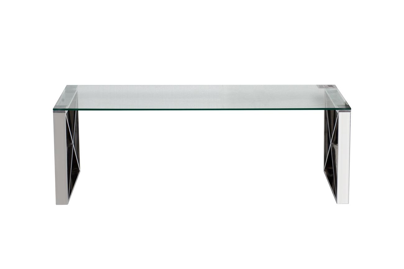 Стол журнальный 47ED-CT008 прозр.стекло/хром 120*60*40см