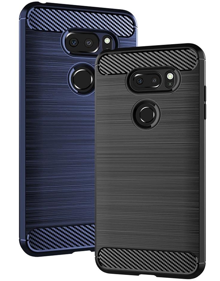 Чехол для LG V30, V30+ цвет Blue (синий), серия Carbon от Caseport
