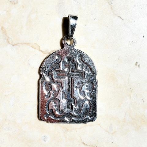 Нательная икона Божией Матери Владимирская с серебрением - обратная сторона
