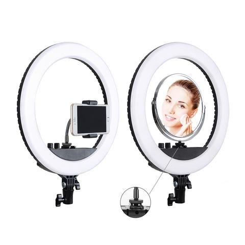 Кольцевая селфи-лампа  держателем для смартфона на штативе, диаметр - 33 см