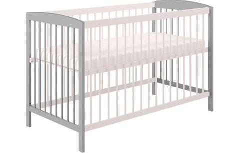 Кроватка детская Polini kids Simple 101, серый-белый