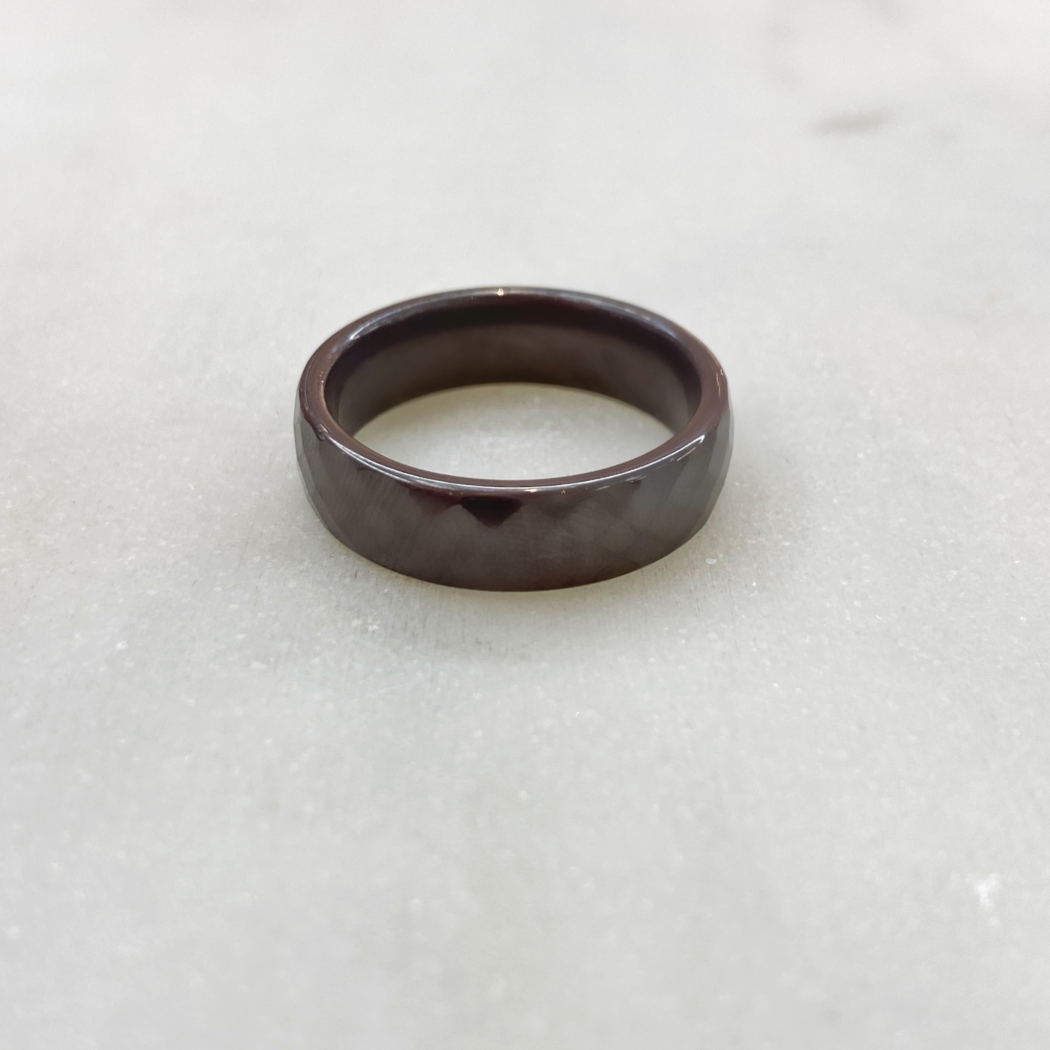Кольцо Керамика фактурное (серый)
